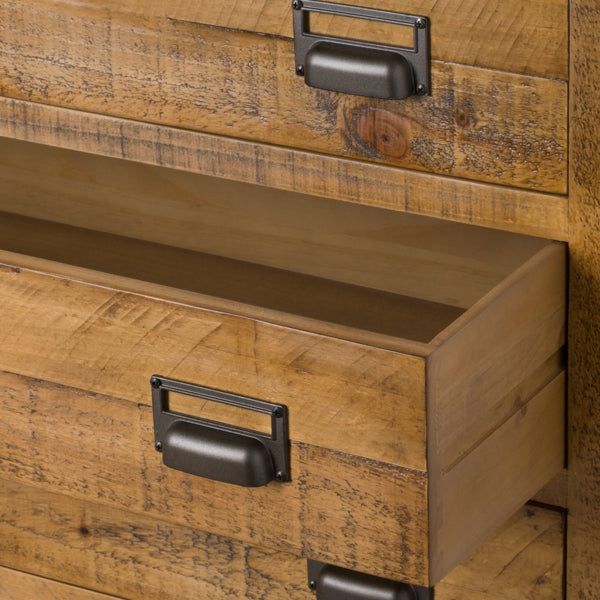 Pine Wood 6 Drawer Chest