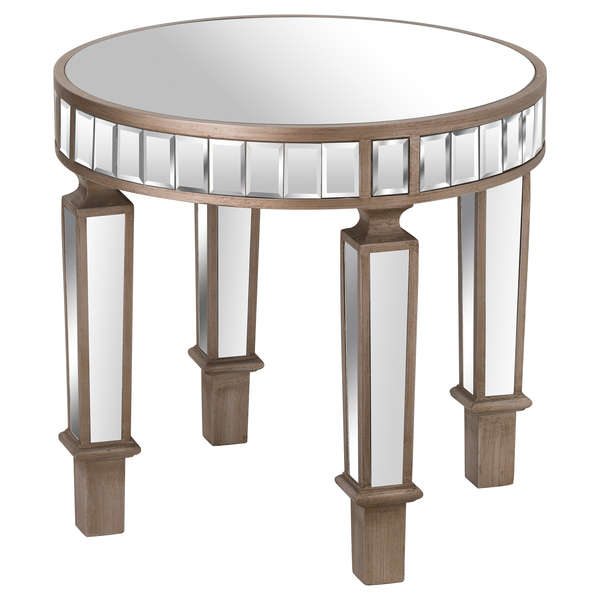 Mirrored Round Side Table