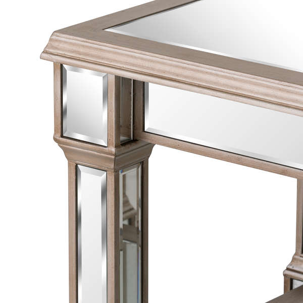 Handcrafted  Mirrored Display Coffee Table