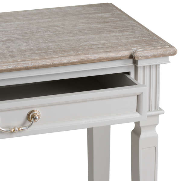 Two Drawer Hall Table With Shelf