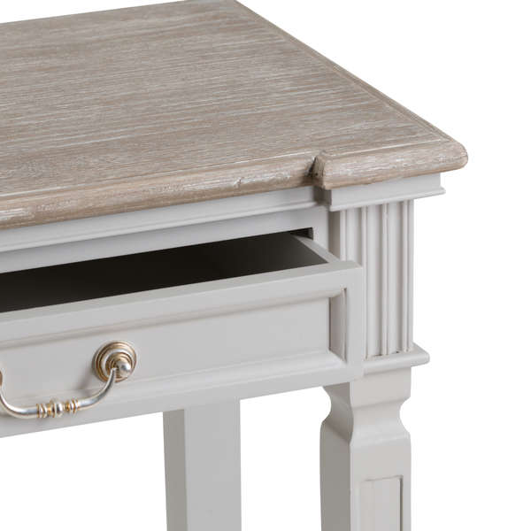 Handcrafted White Painted 2 Drawer Console Table