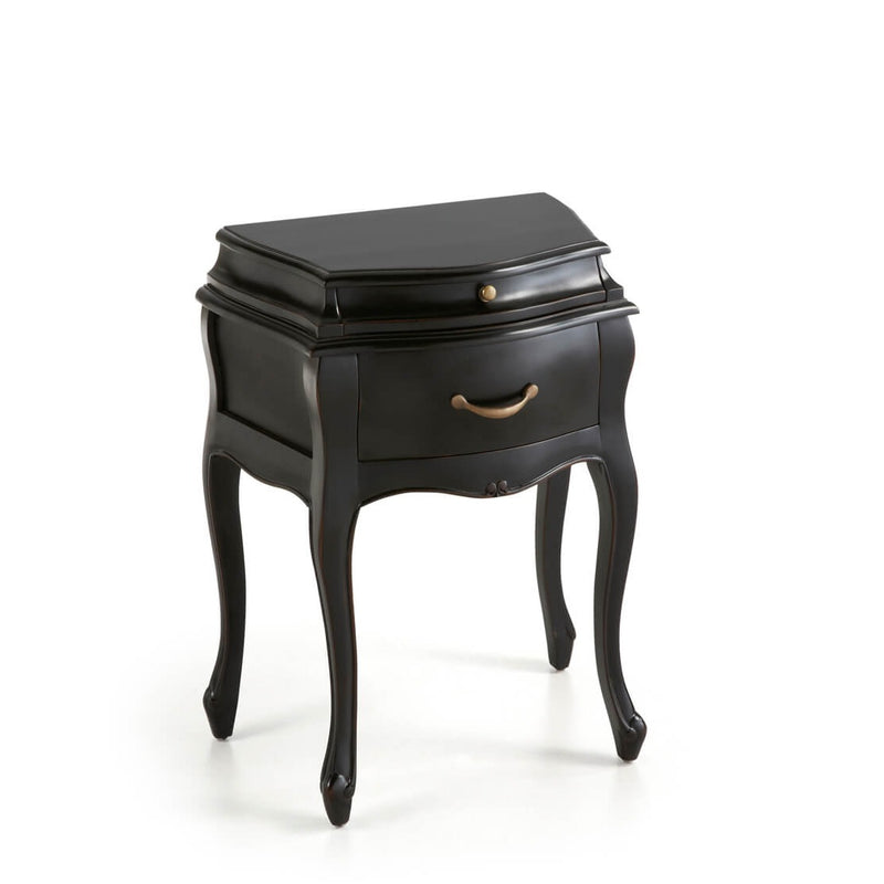 Vintage Black Bedside Table