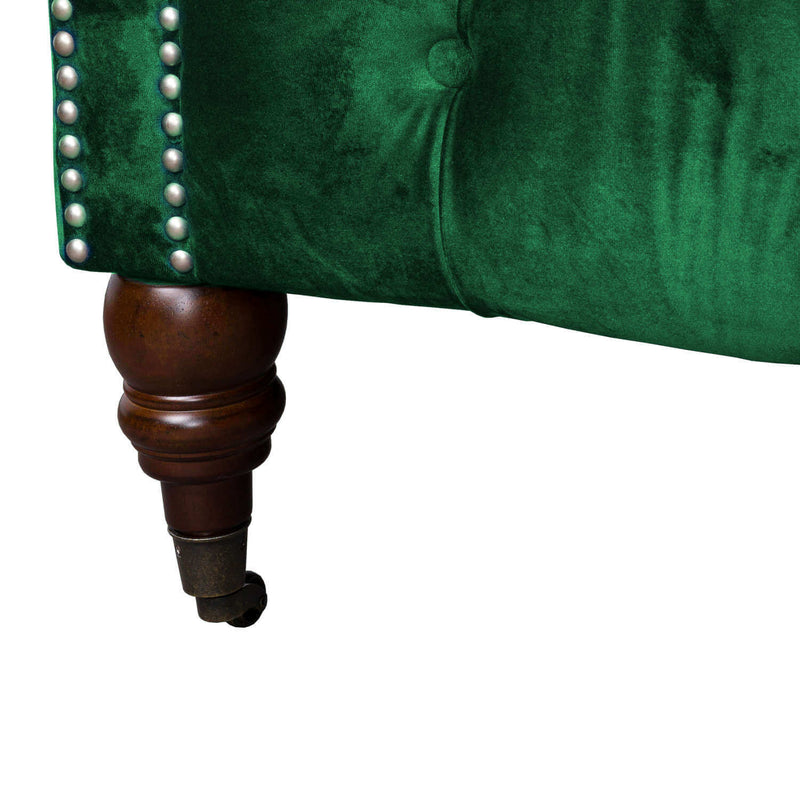 Emerald Green 3 Seater Chesterfield Sofa