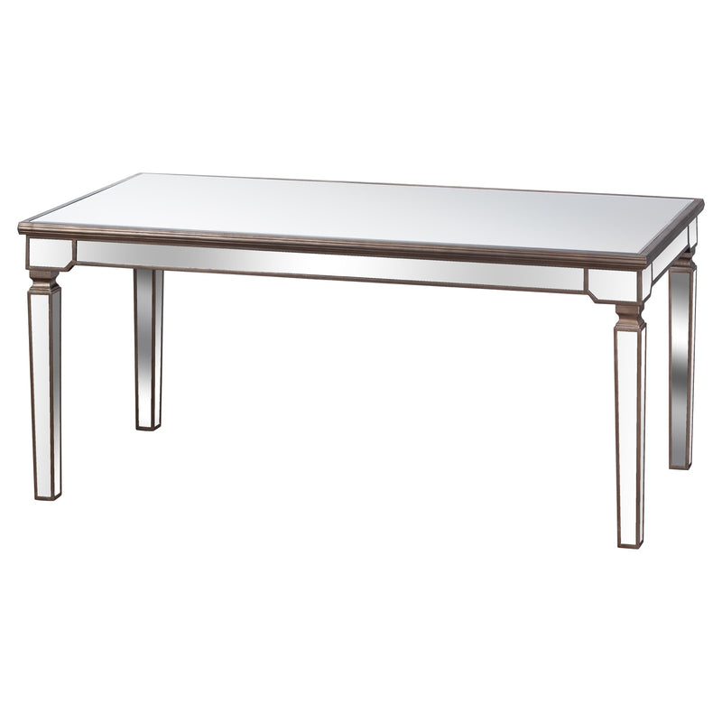 Rectangle Mirrored Dining Table