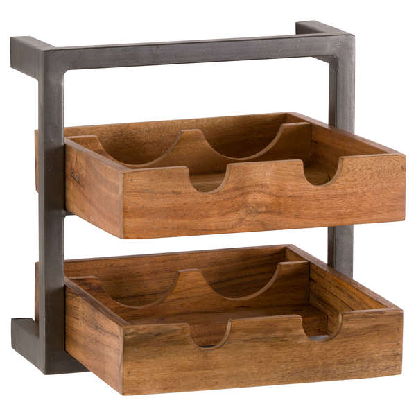 Acacia Wood 4 Bottle Wine Rack