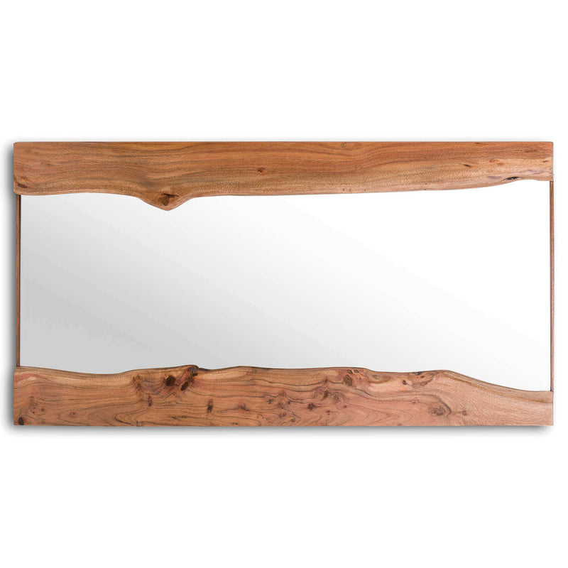 Handcrafted Acacia Wood Wall Mirror