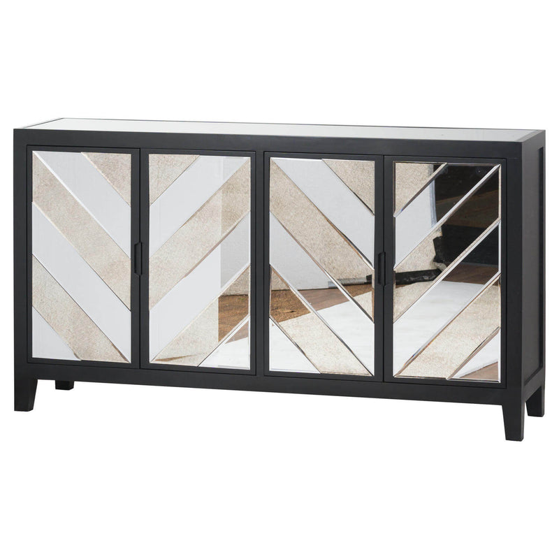 4 Door Sideboard, Black
