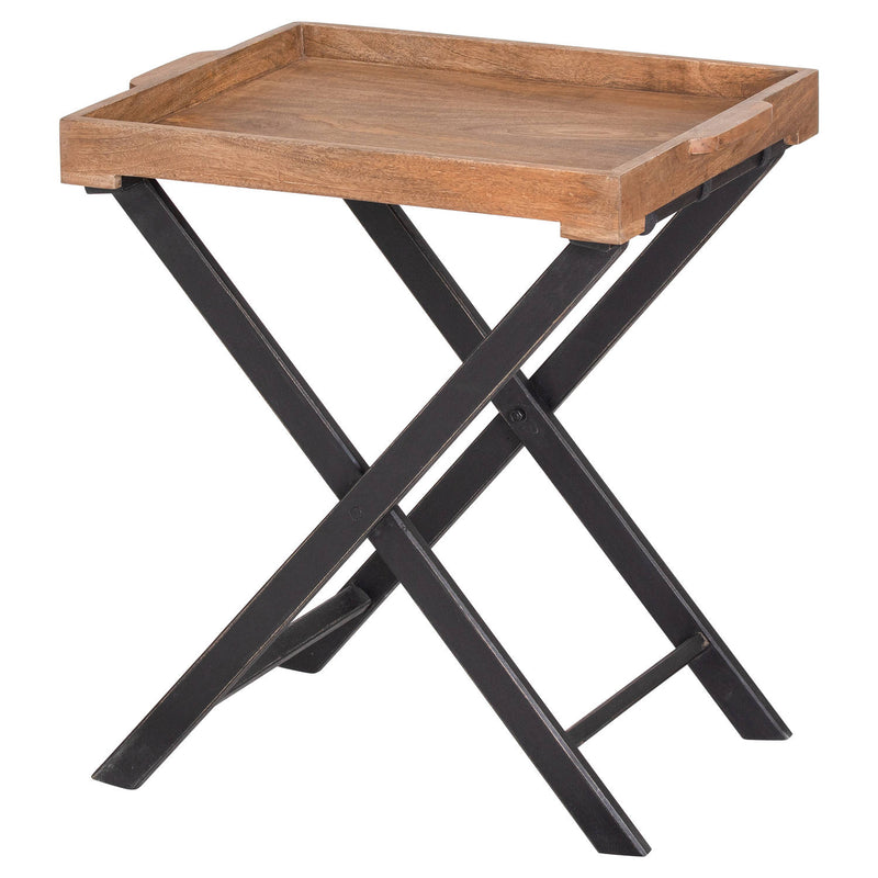 Wooden Metal Legs Buttler Table