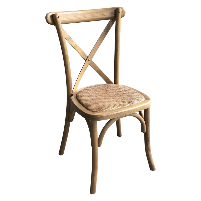 Oak Wood Cross Back Design Bar Stool