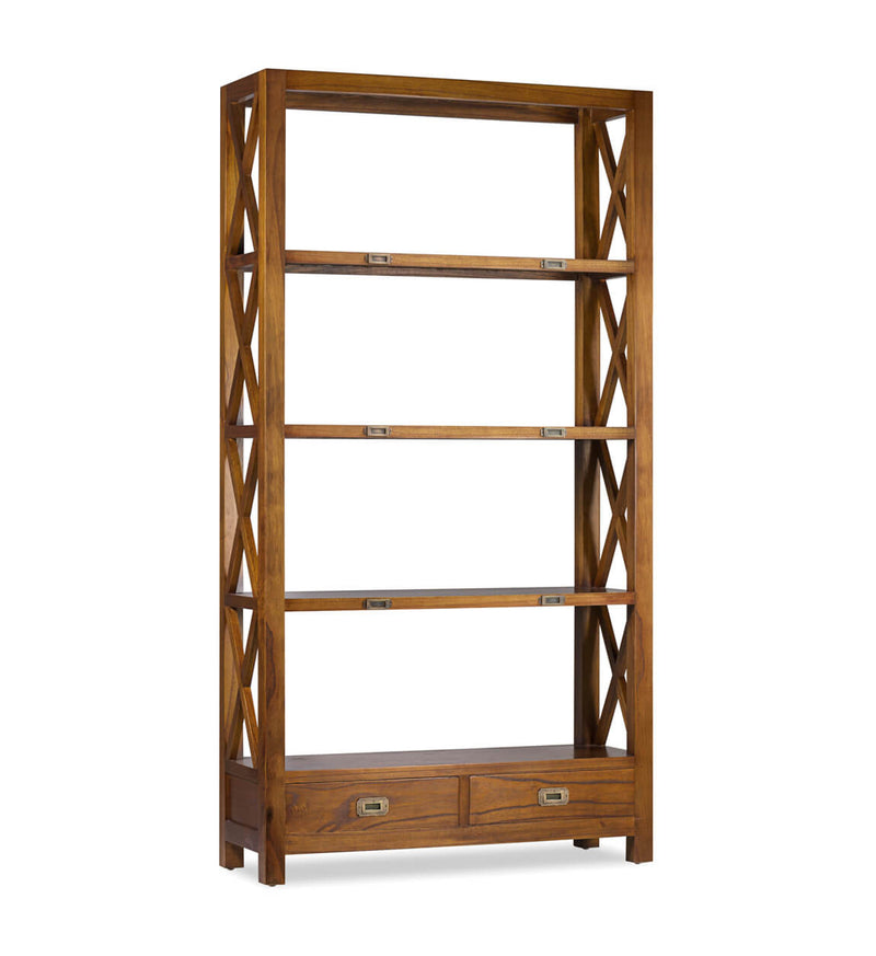 2 Drawers 4 Tier Bookshelf