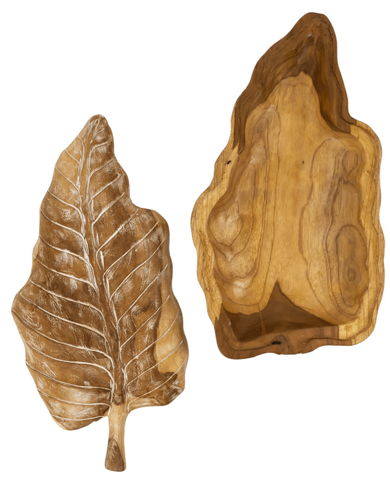 Erosi - Leaf Box, Teak Wood