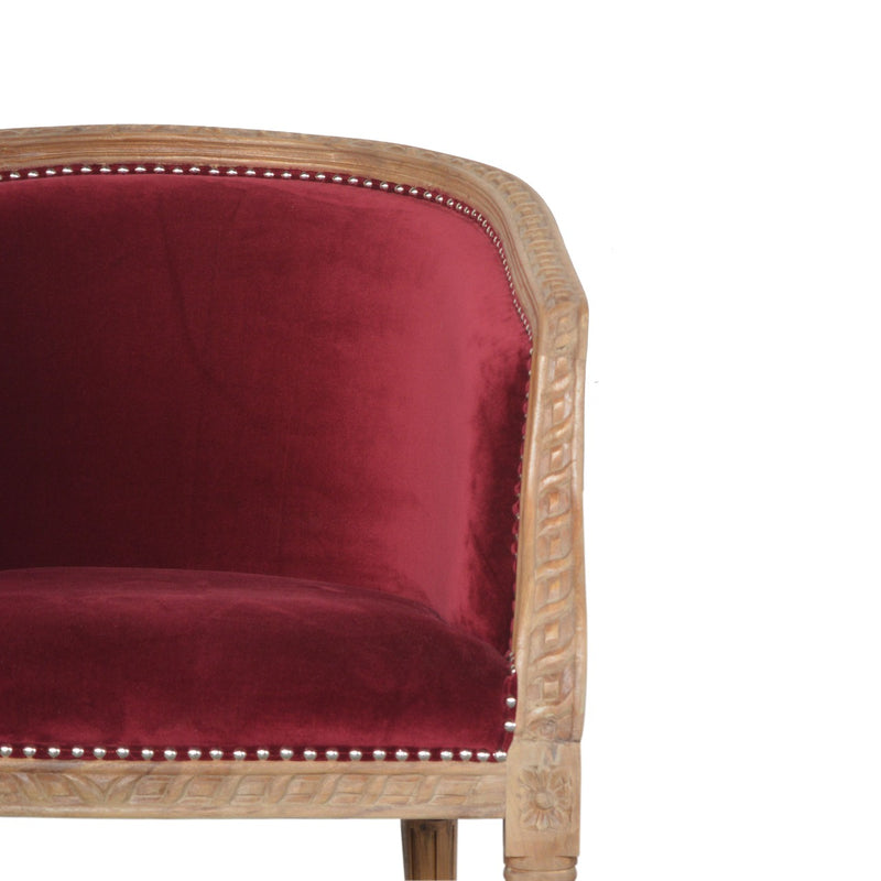 Red Wine Velvet Occasional Chair