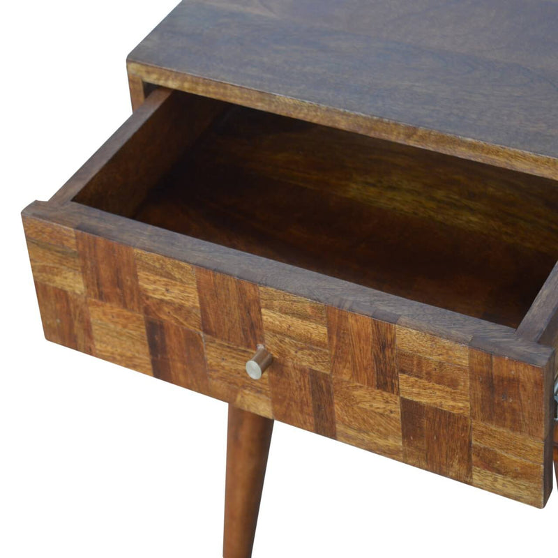 Handcrafted Chestnut Assorted Bedside With 2 Drawers - HM_FURNITURE