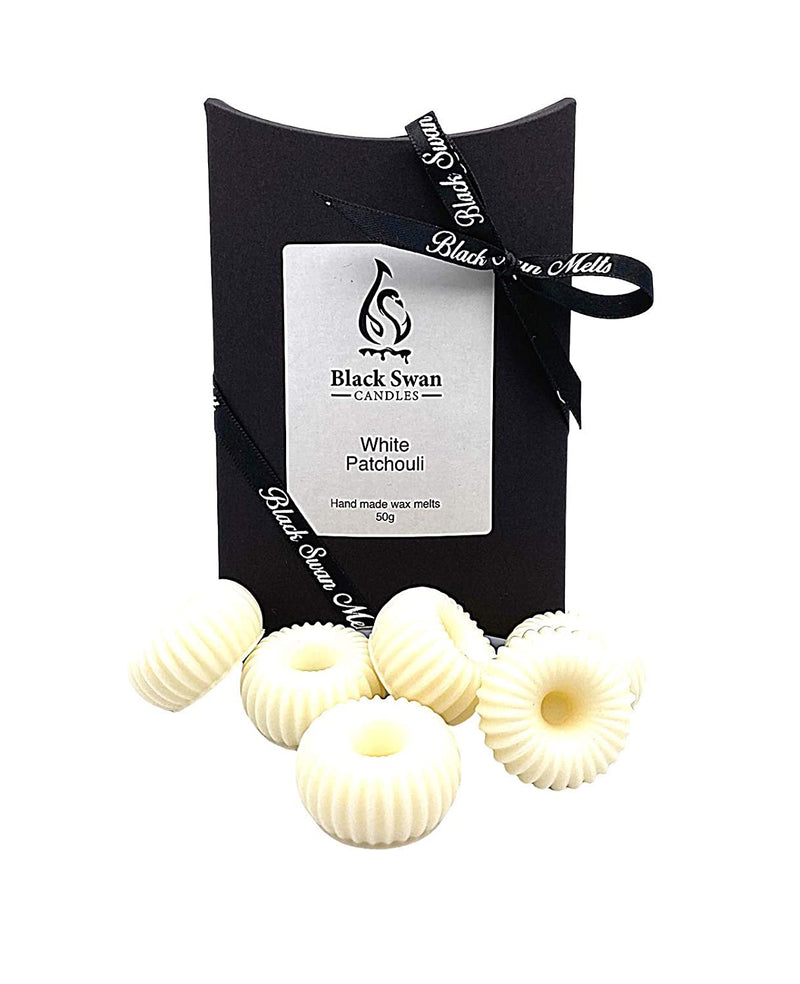 Black Swan Candles - White Patchouli Wax Melts