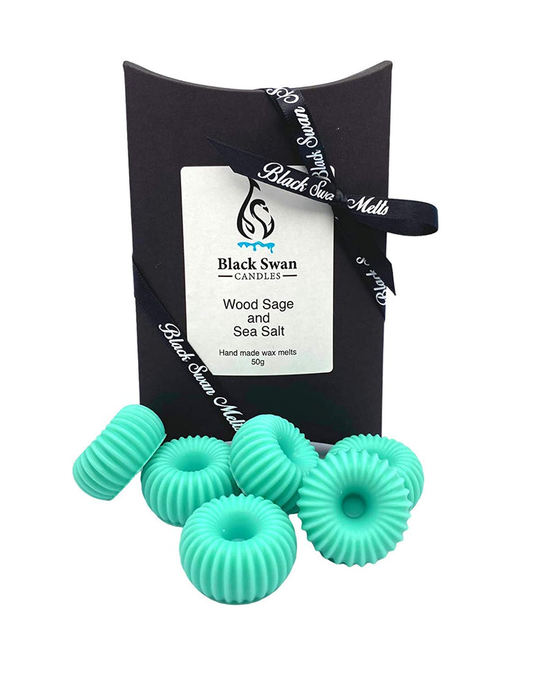 Black Swan Candles - Wood Sage & Sea Salt Wax Melts