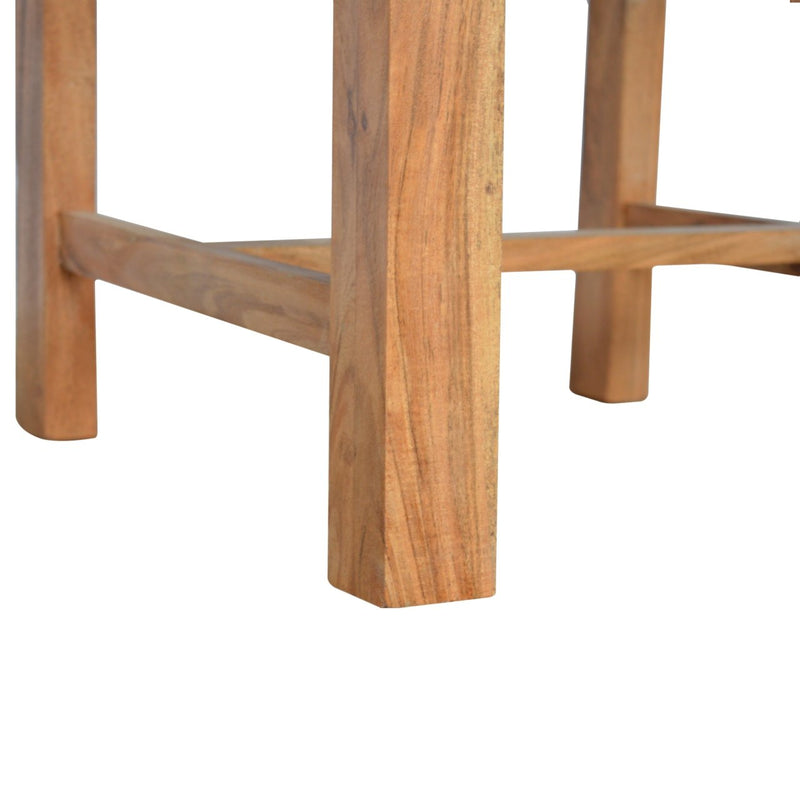 Handcrafted Acacia Wood Dining Chair - Set of 2 - HM_FURNITURE