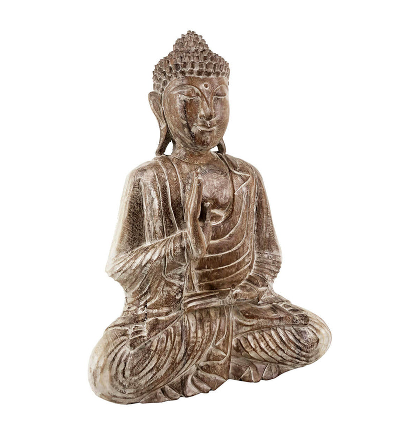 Meditation Budha Figure, Suar Wood