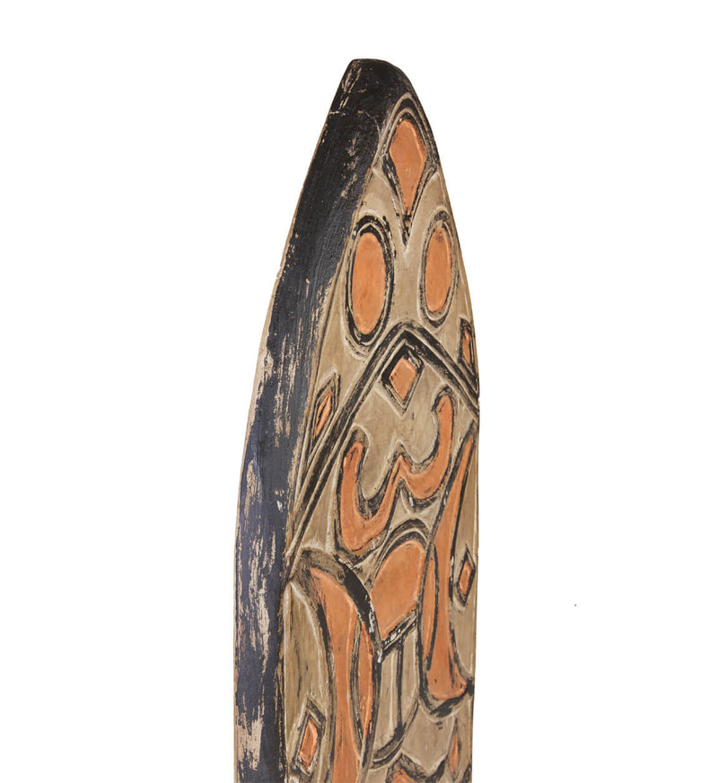 Shield Figure, Teak Wood