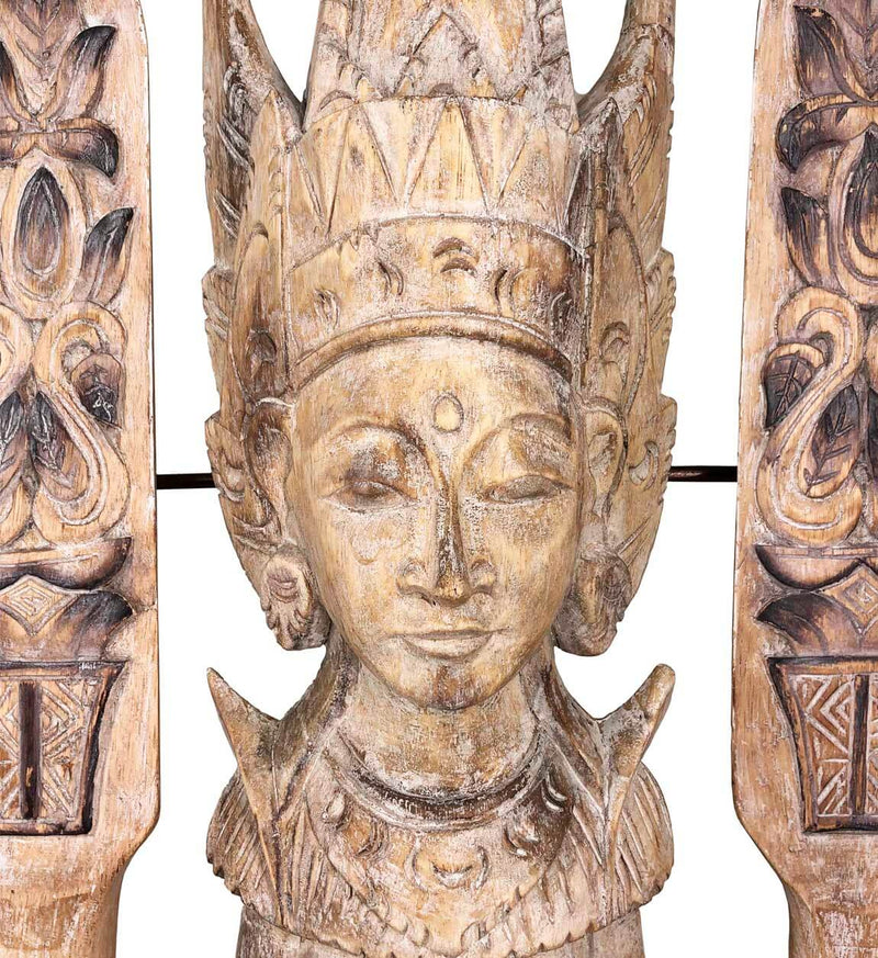 Goddess Figure, Albasia Wood