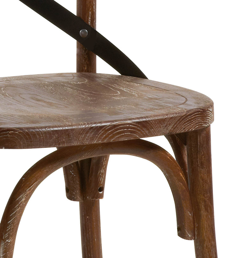 Chicago Chair, Oak Wood & Iron