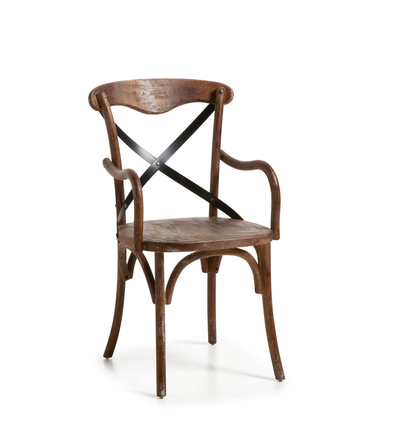 Chicago Armchair, Oak Wood & Iron