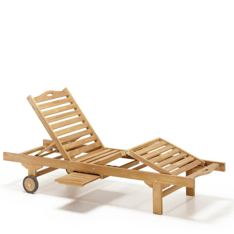 Outdoor Lounger With Wheels
