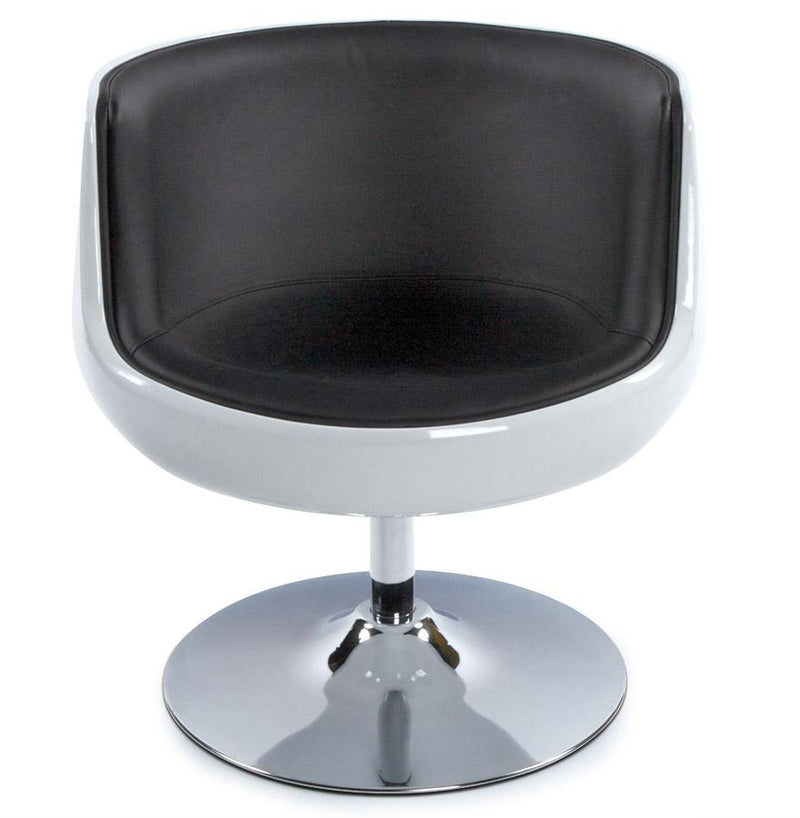 360 Degree Armchair With Faux Leather Padded Seat - HM_FURNITURE