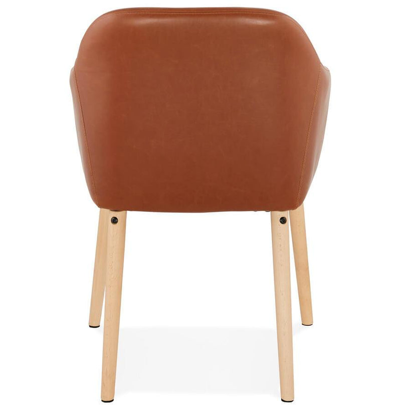 MDF and Faux Leather Dining Armchair - HM_FURNITURE