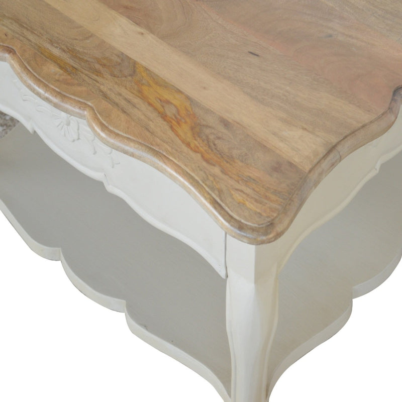 Handcrafted Hand-Carved Coffee Table With French Style Legs - HM_FURNITURE