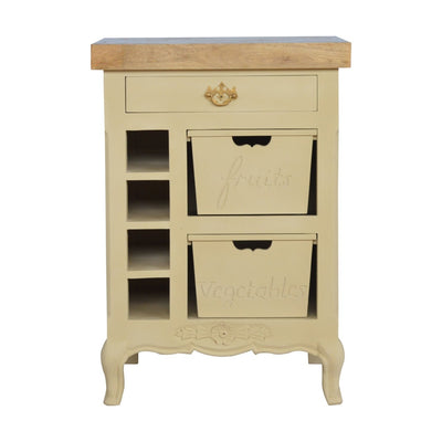 Handcrafted Painted Kitchen Cabinet With French Style Cabriolet Legs - HM_FURNITURE