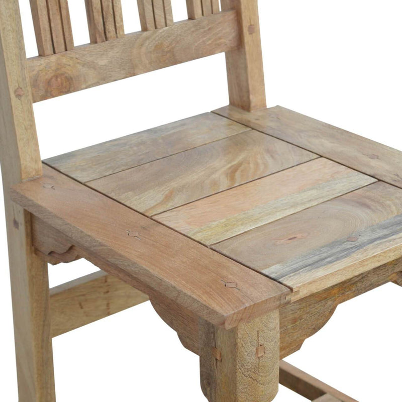 Handcrafted Dining Chairs With Turned Legs - Set of 2 - HM_FURNITURE