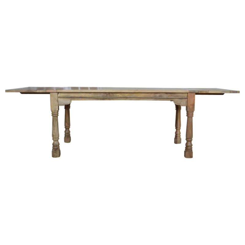 Handcrafted 6 Extendable Distressed Finish Dining Table - HM_FURNITURE