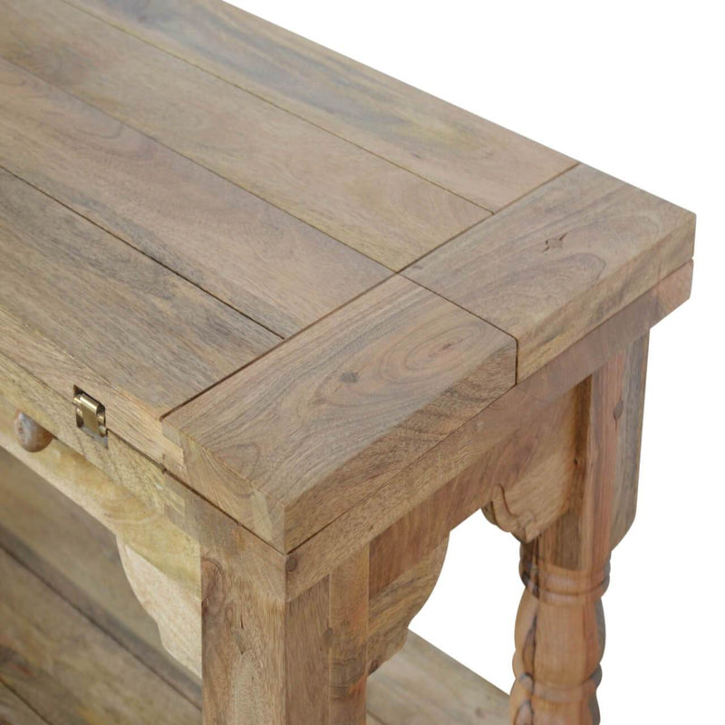 Handcrafted Extendable Coffee Table With Turned Legs - HM_FURNITURE