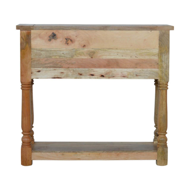 Handcrafted Console Table With 4 Drawers and Turned Legs - HM_FURNITURE