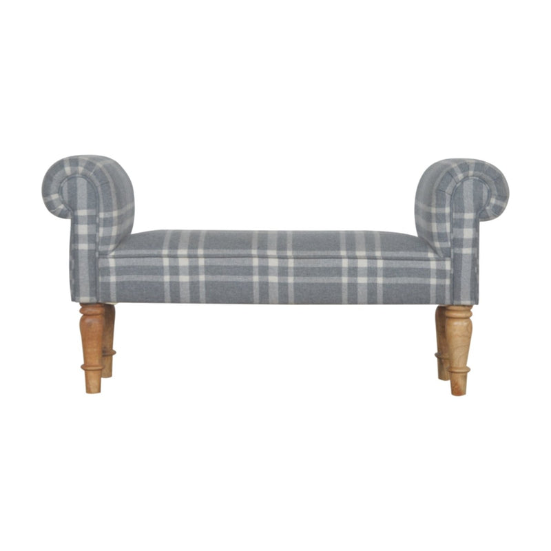 Handcrafted Canus Tartan Bench - HM_FURNITURE