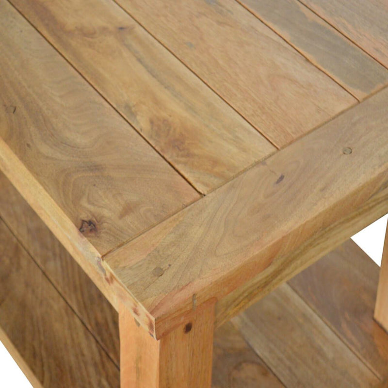 Handcrafted Coffee Table With Shelf - HM_FURNITURE