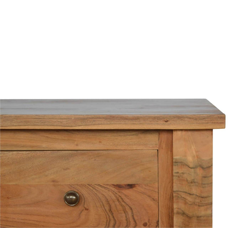 Handcrafted Solid Wood Console Table With 2 Drawers and 2 Shelves - HM_FURNITURE