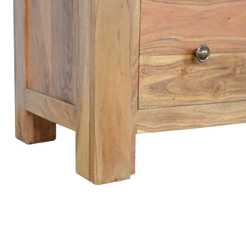Handcrafted Solid Wood Chest With 4 Drawers - HM_FURNITURE
