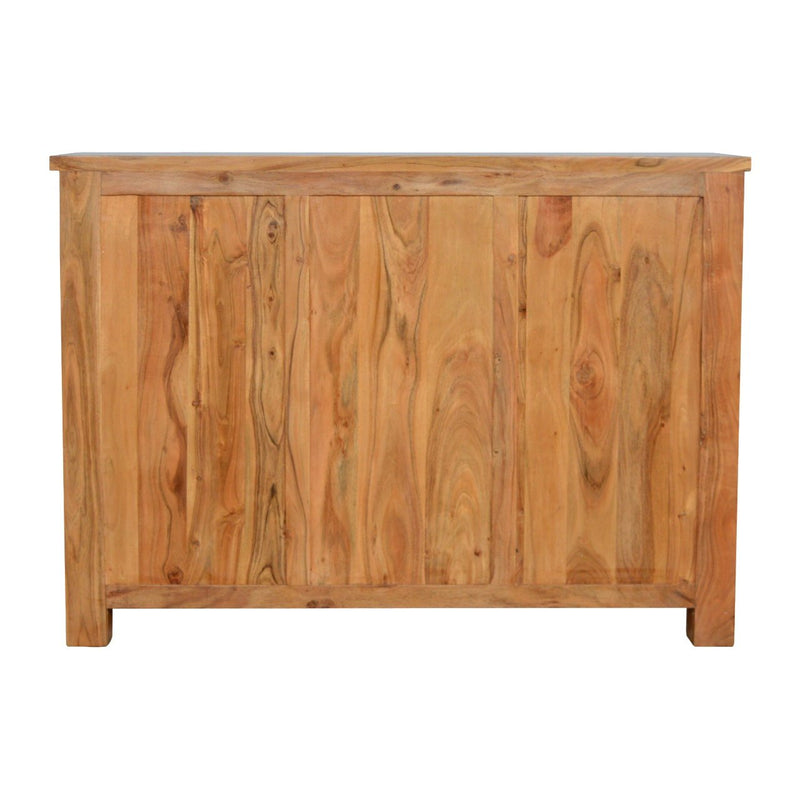 Handcrafted Solid Wood Sideboard With 3 Drawers and 2 Cabinets - HM_FURNITURE