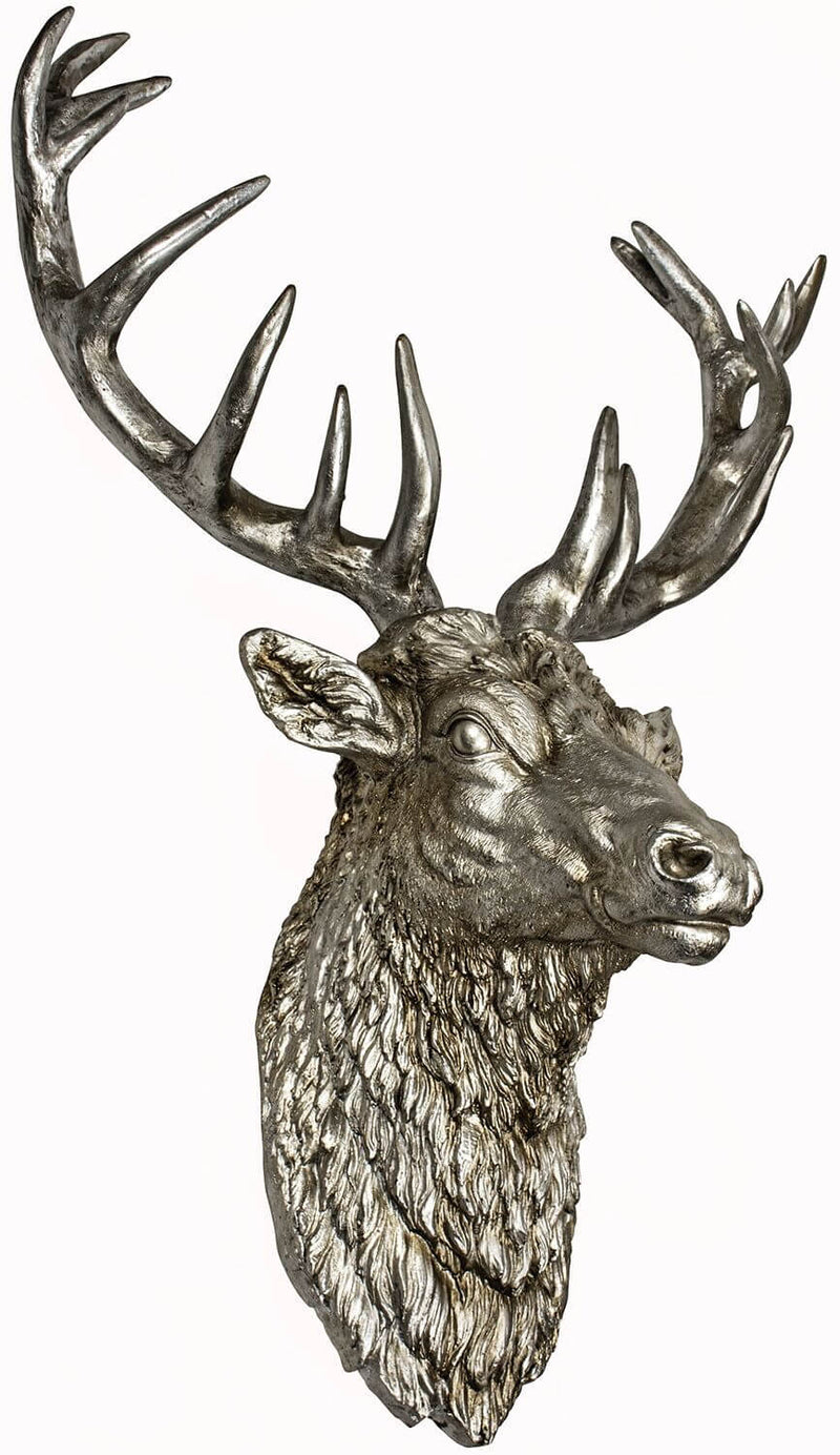 Antique Stag Head Wall Decor - HM_FURNITURE
