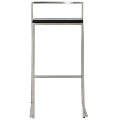 Stainless Steel and Faux Leather Professional Bar Stool - HM_FURNITURE
