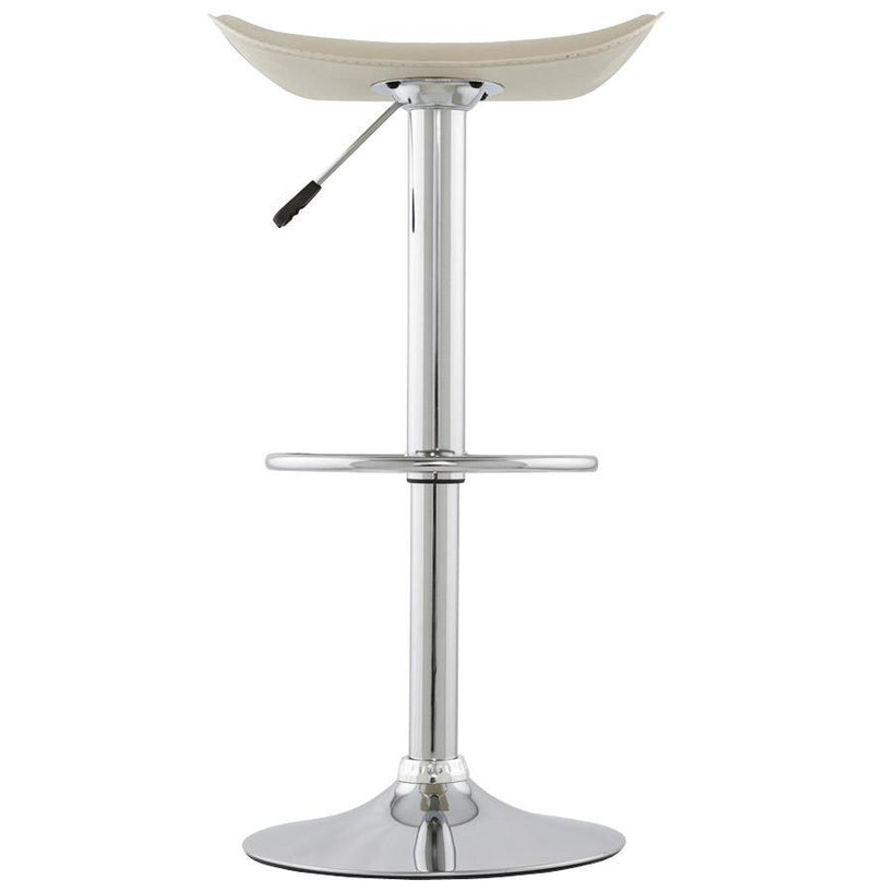 Chrome Steal and Faux Leather Adjustable Bar Stool - HM_FURNITURE