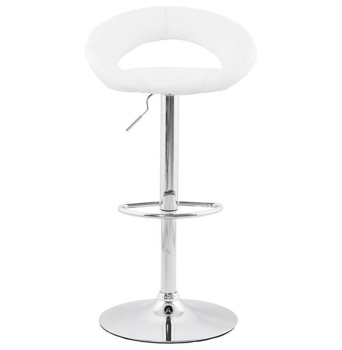 Stainless Steel Adjustable Bar Stool With Padded Seat - HM_FURNITURE