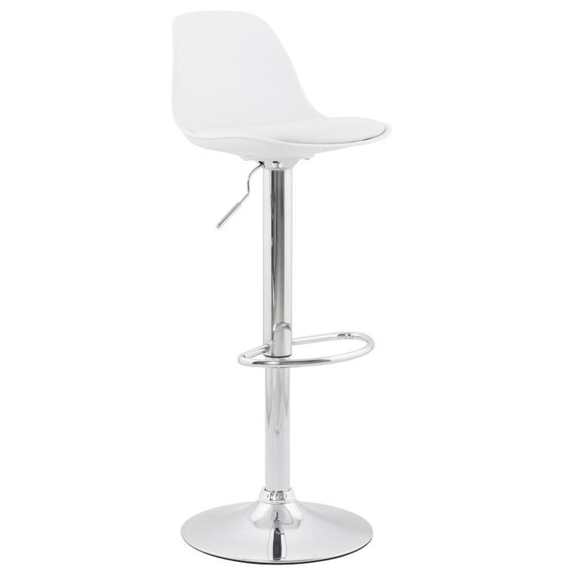 Alezio - Adjustable bar stool with curved backrest - HM_FURNITURE