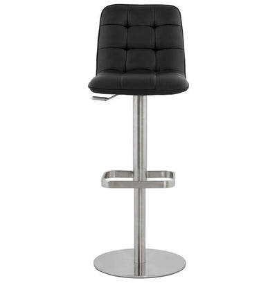 Elizio - Height Adjustable Bar Stool With Fabric/Faux Leather Padded Seat - HM_FURNITURE