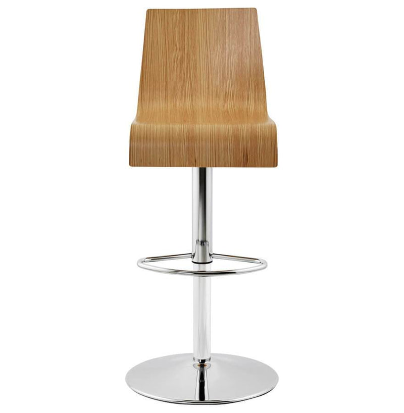Eveline - Height Adjustable Bar Stool With Wooden Seat - HM_FURNITURE