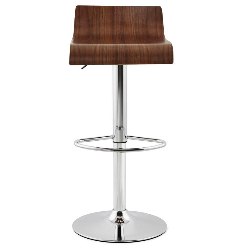Verona - 360° Height Adjustable Bar Stool With Wooden Seat - HM_FURNITURE