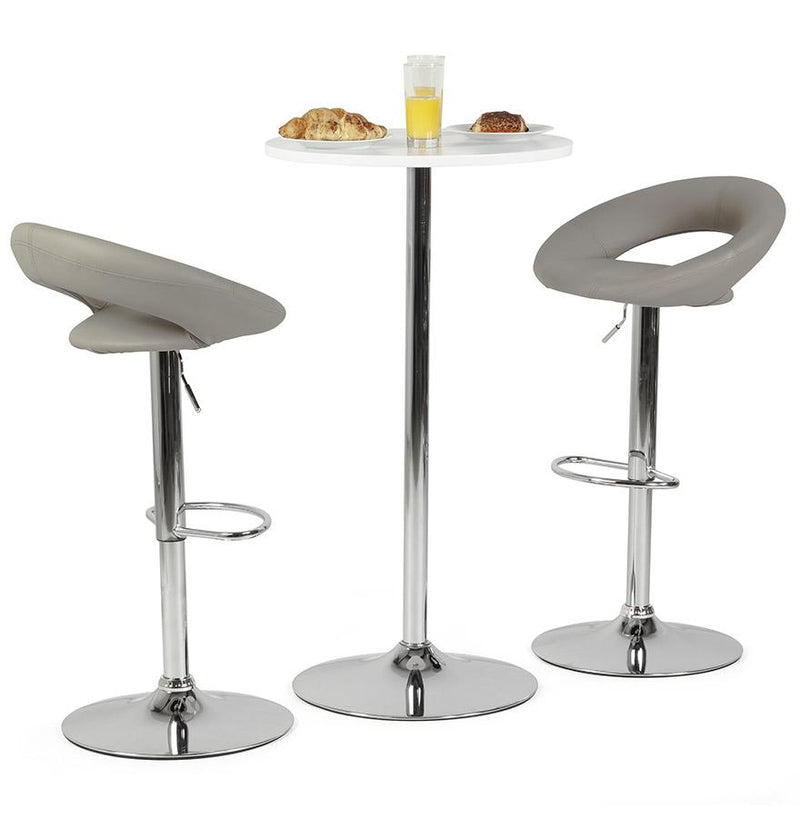 Atlantis - 360° Adjustable Height Bar Stool With Padded Seat - HM_FURNITURE
