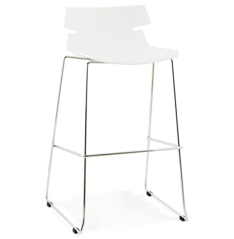 Elesio - Modern Bar Stool With Chrome Plated Metal Base - HM_FURNITURE