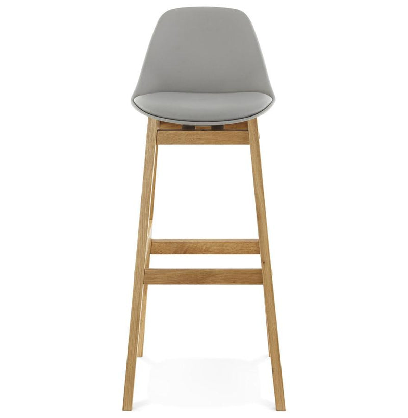 Melody - Scandinavian Design Bar Stool With Oak Frame - HM_FURNITURE
